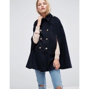 ASOS CAPE WITH MILITARY DETAILING